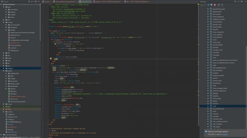 Ruby скрипт для Redmine ( отмена переноса сроков задач )