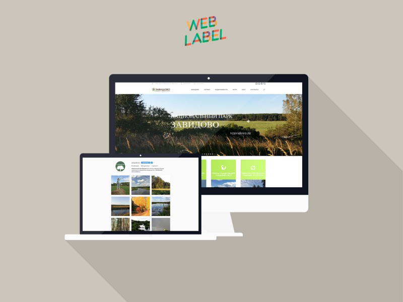 Веб-дизайн для сайта Завидовского заповедника