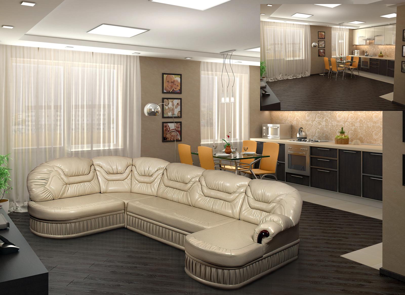 Вставка реального дивана в 3d интерьер