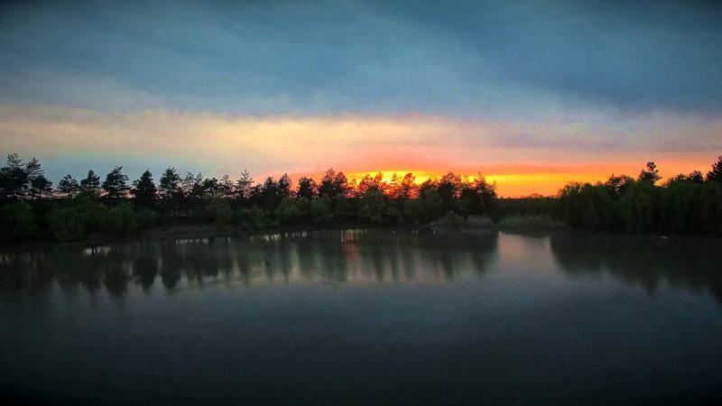 Озеро Гончарка. Съемка с воздуха.