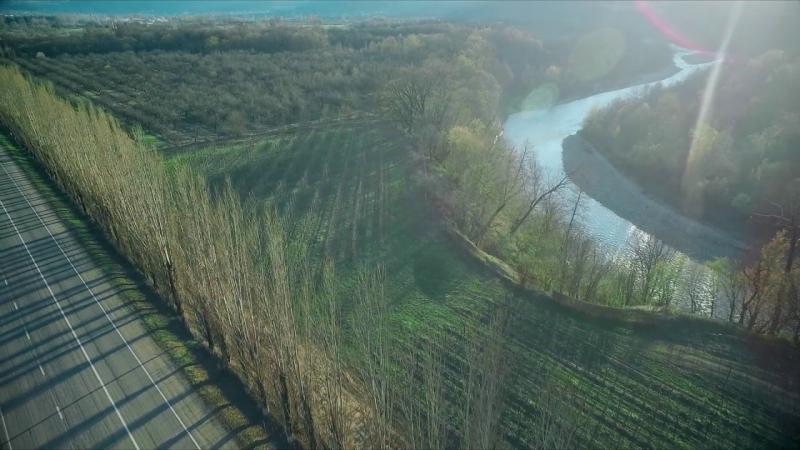 Весенний Хаджох. Видеосъемка с воздуха. 4K.