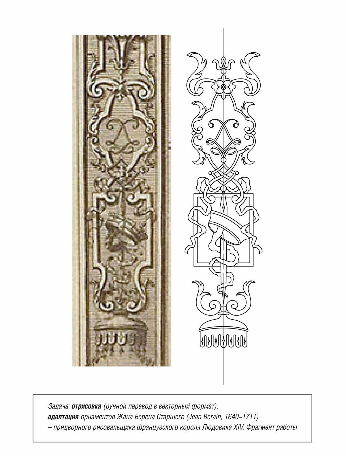Ручная отрисовка орнамента в векторе
