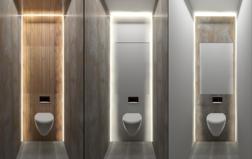 туалет в loft стиле