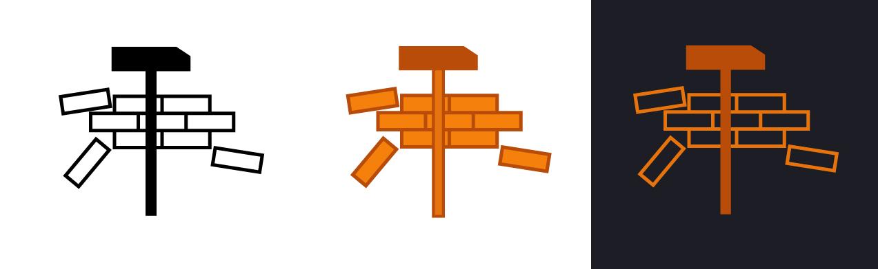 "Логотип  демонтажной компании ""Демонтаж Сервис"""