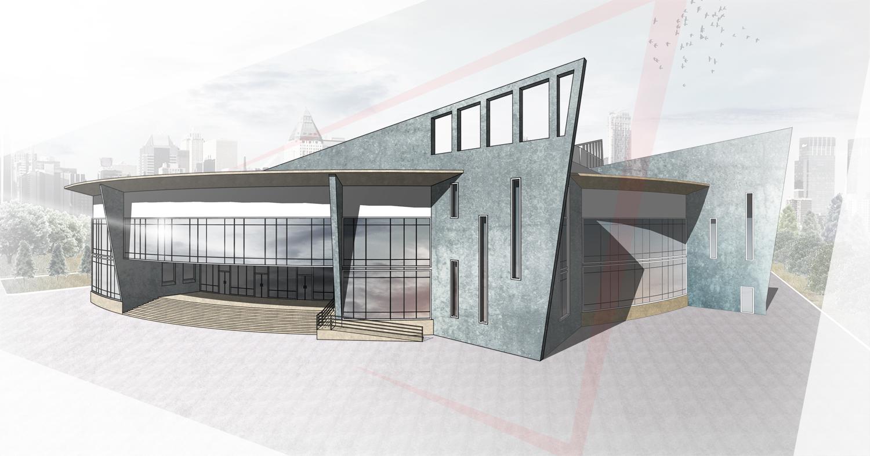 Концепт арт архитектурный объект