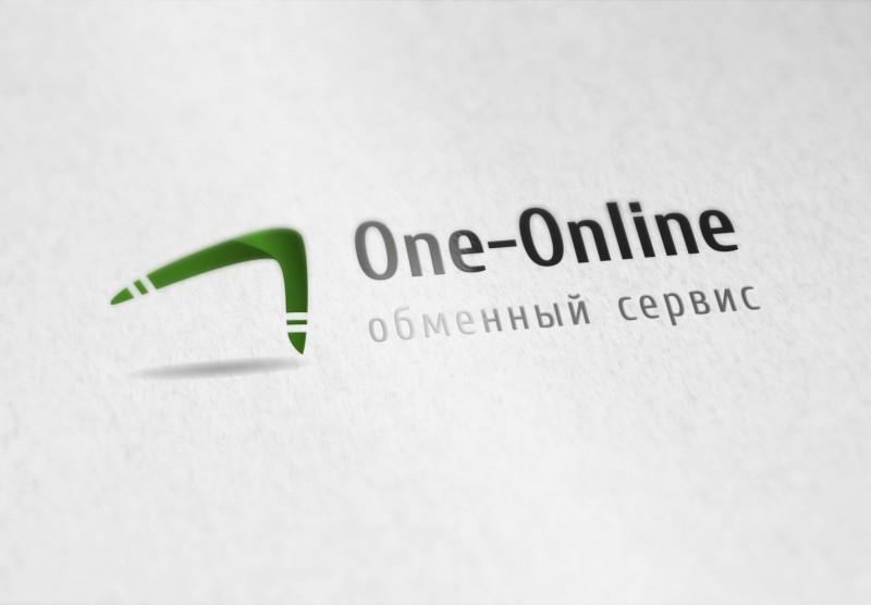 """Лого для сервиса обмены криптовалюты """"One-Online"""""""