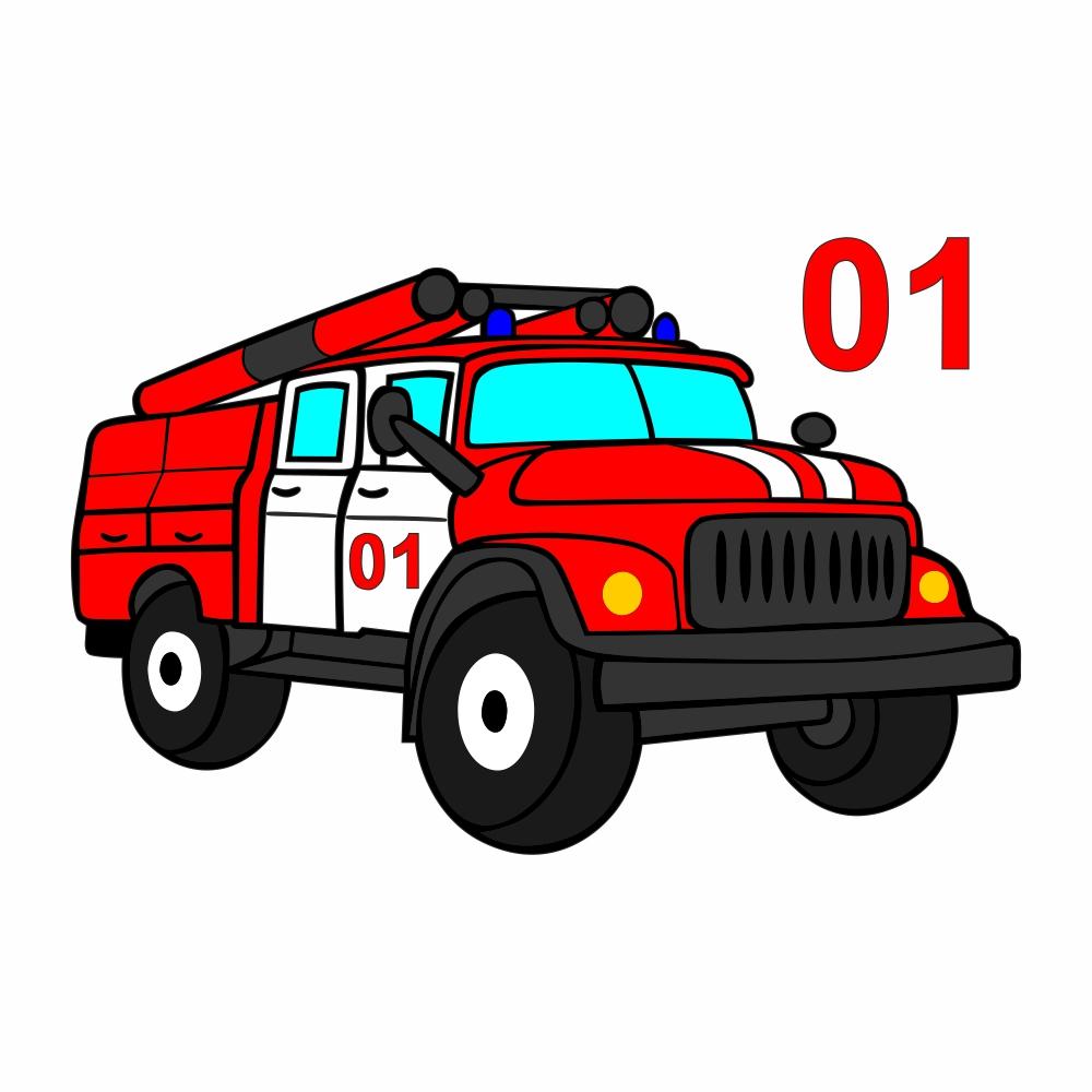 Улыбки, детские картинки пожарная машина