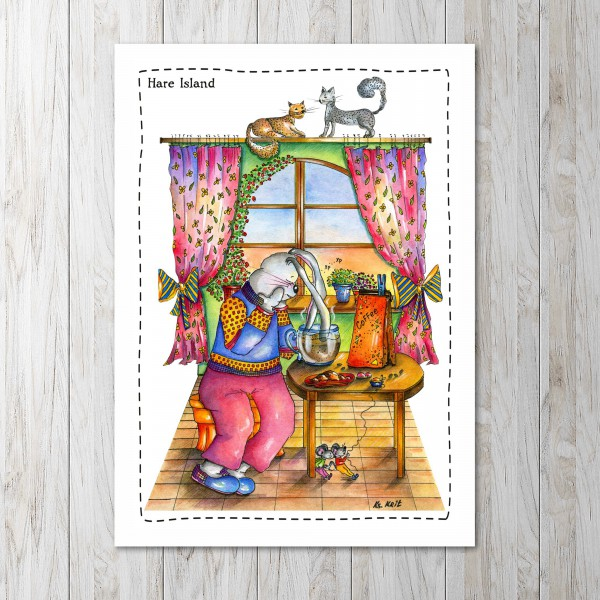 привлекает авторские открытки семья сопровождаются комментариями