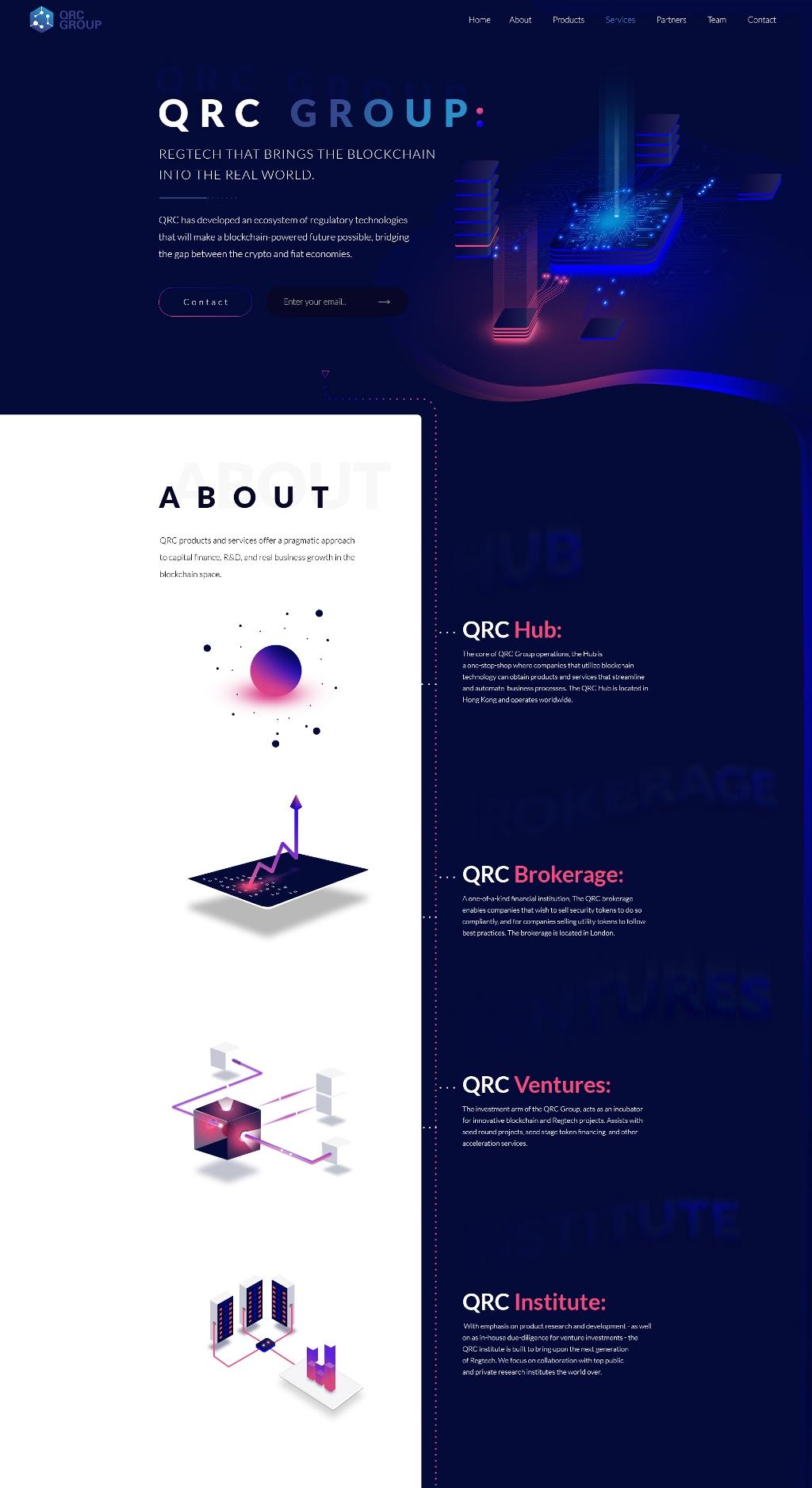 Сайт для группы компаний QRC Group