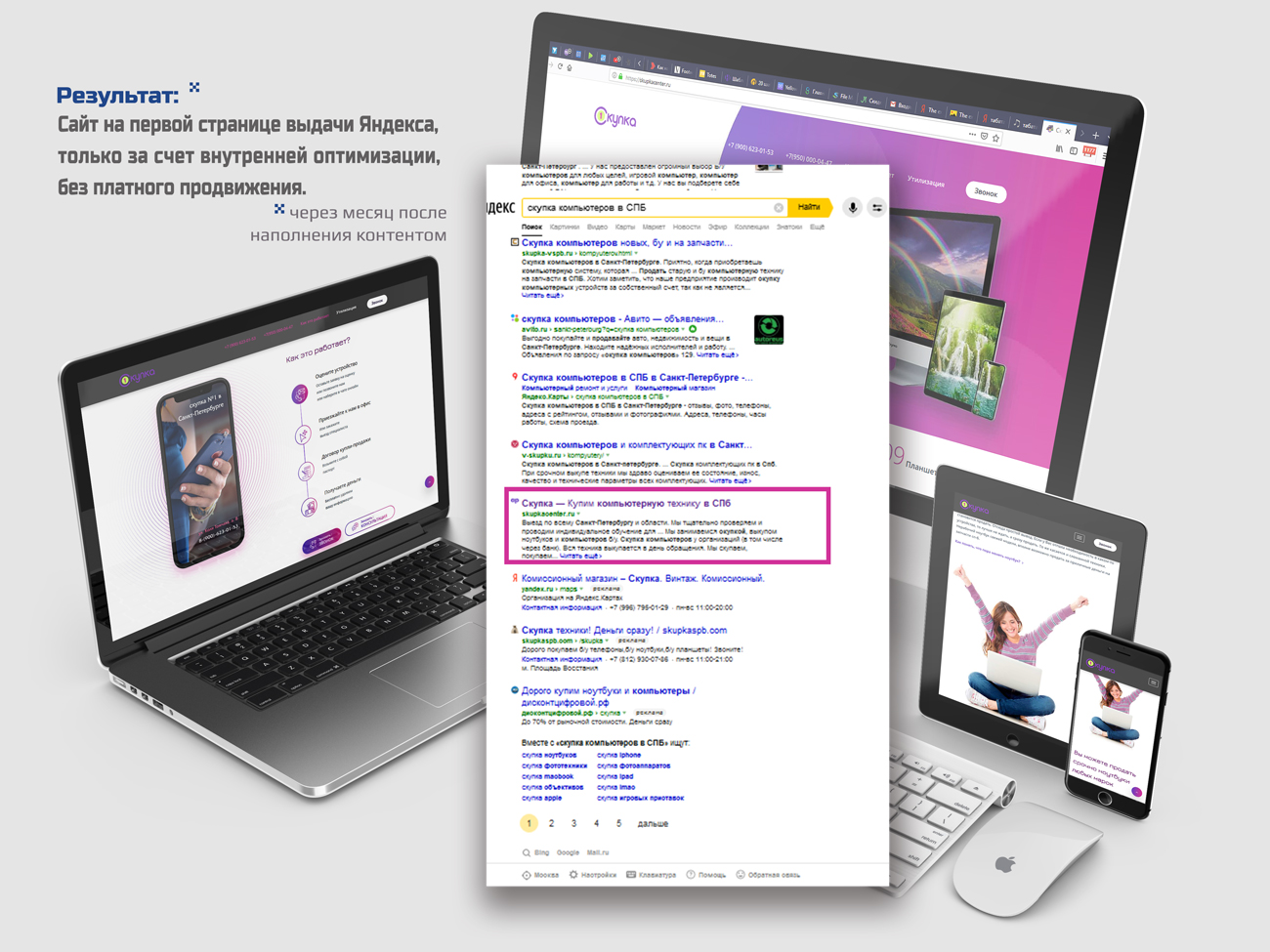 Лендинг - блог Скупки компьютеров и ноутбуков в СПБ.