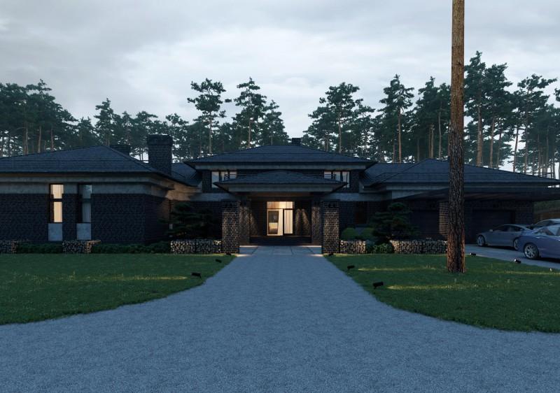 Дизайн современного дома в Омске