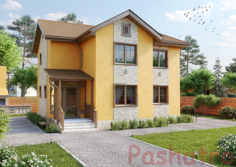 Дизайн фасада коттеджа1
