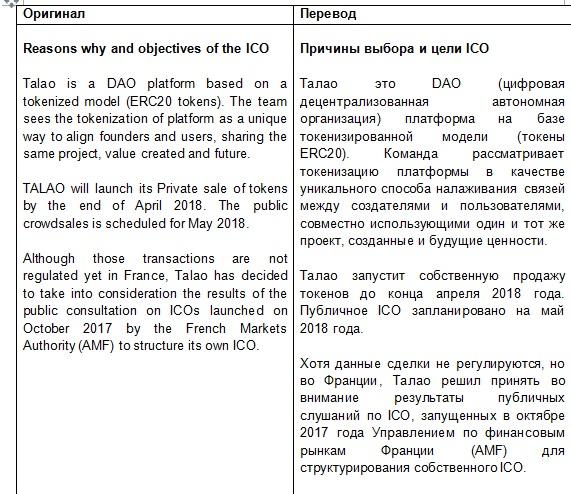 Перевод англ-рус ICO