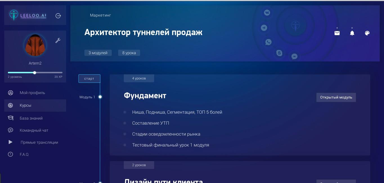 LeeLoo Обучающая платформа