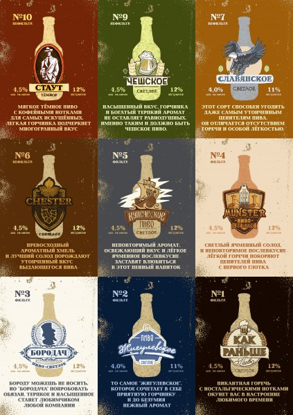 Серия плакатов для магазина пива