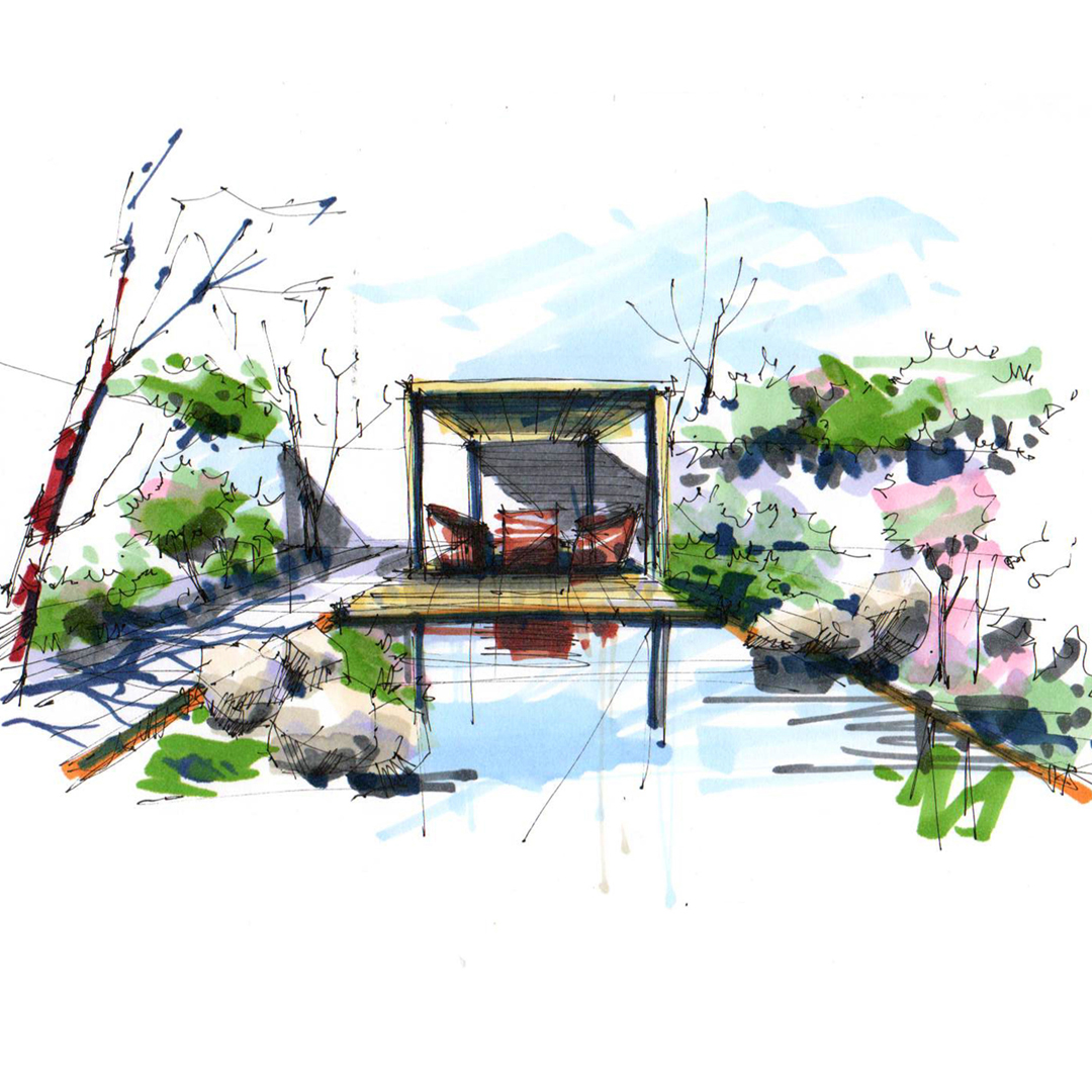 Ландшафтный дизайн зоны отдыха на частном участке