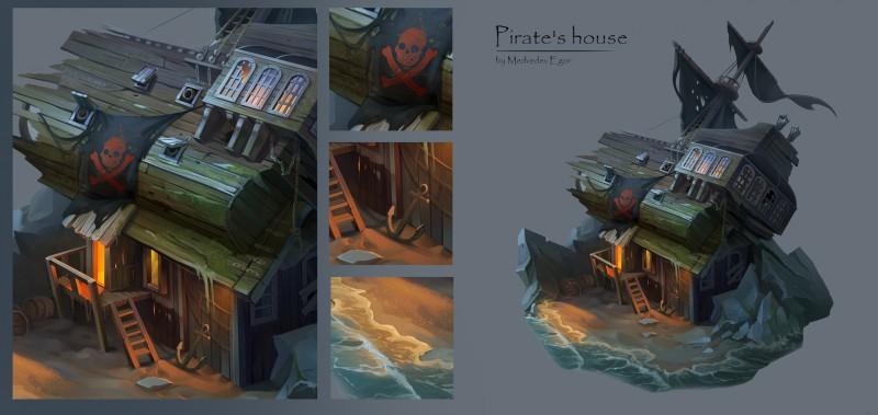 Концепт пиратской хижины