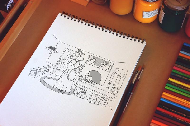 """Иллюстрации для издательства """"Феникс"""""""