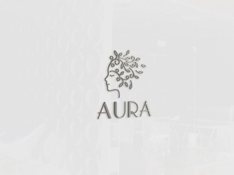 """Логотип для женской студии красоты """"Aura"""""""