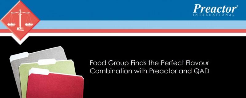 Food Group cчитает Preactor и QAD идеальным сочетанием EN-RU