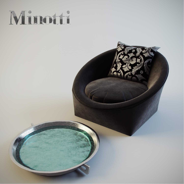 Кресло Capri, Minotti