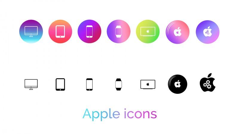 Иконки в стиле Apple