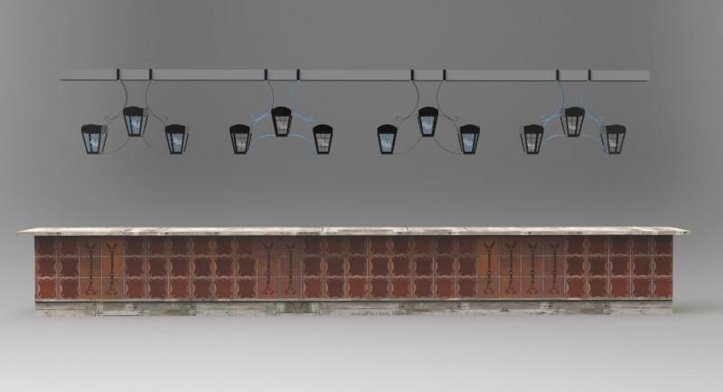 Светильники над барной стойкой