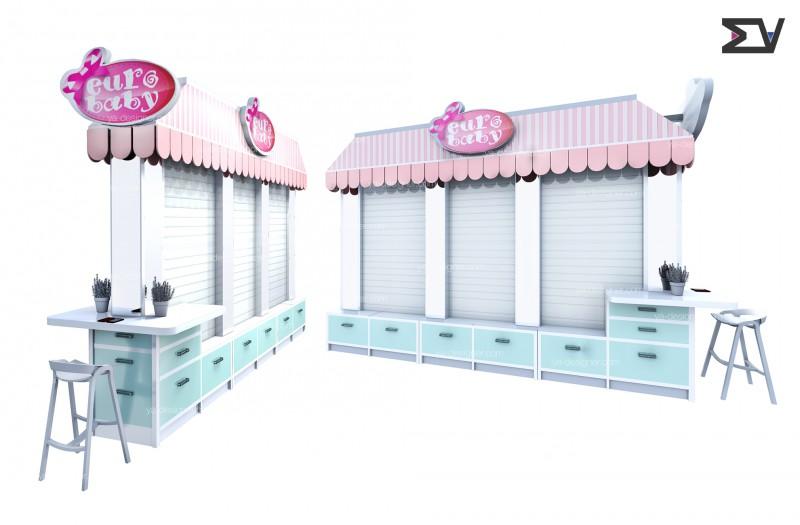 Дизайн острова по продаже детских аксессуаров
