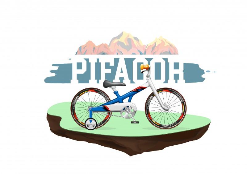 """Иллюстрация для компании по велопрокату """"Pifagor"""""""