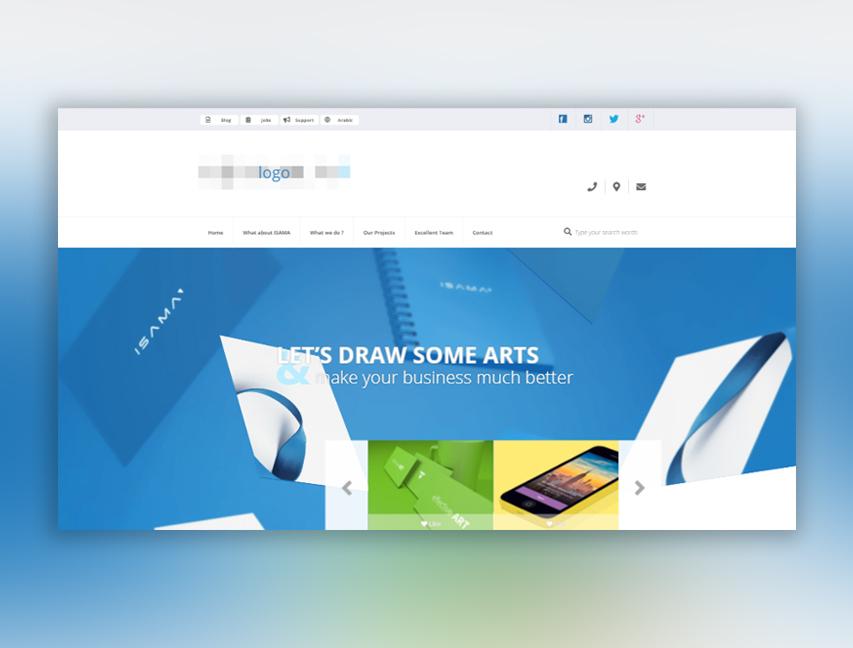 Адаптивная верстка сайта для студии дизайна
