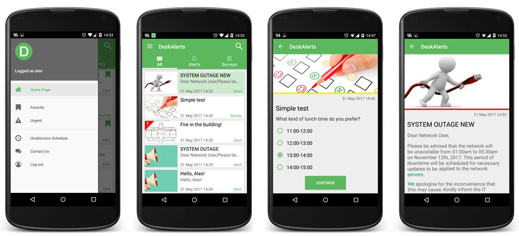 Модифицированное Android приложение для DeskAlerts