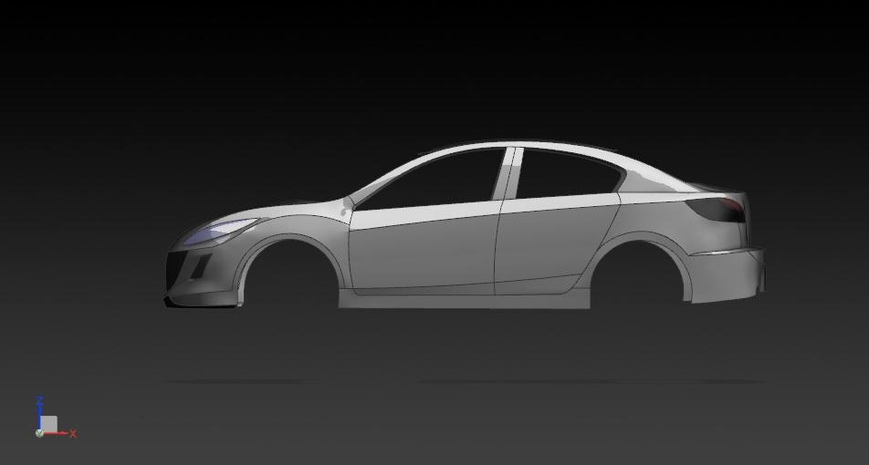 Поверхностное моделирование Mazda 3