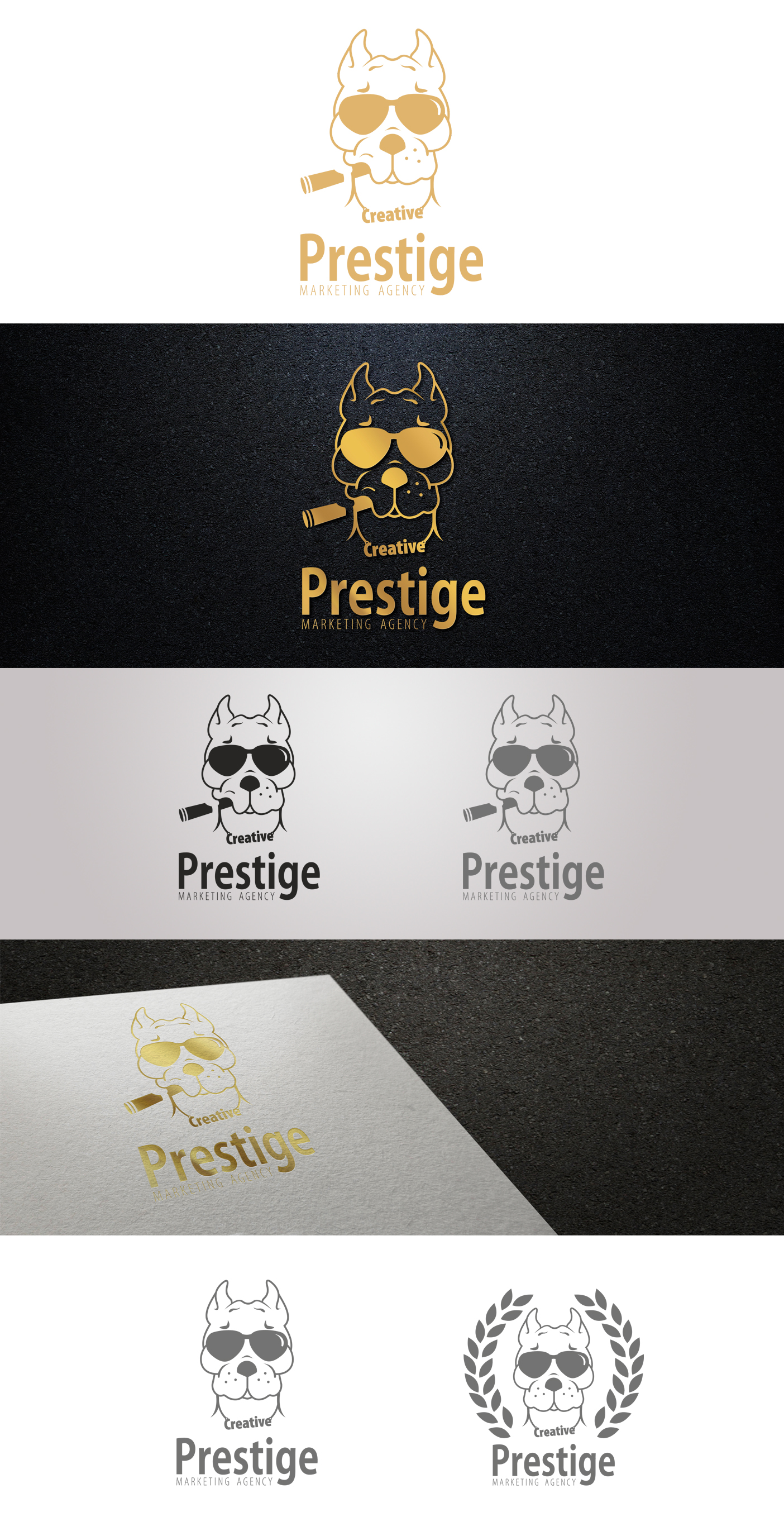 Логотип для маркетингового агенства PRESTIGE