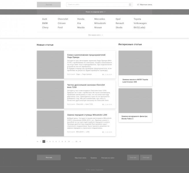 Прототип Авто-блога