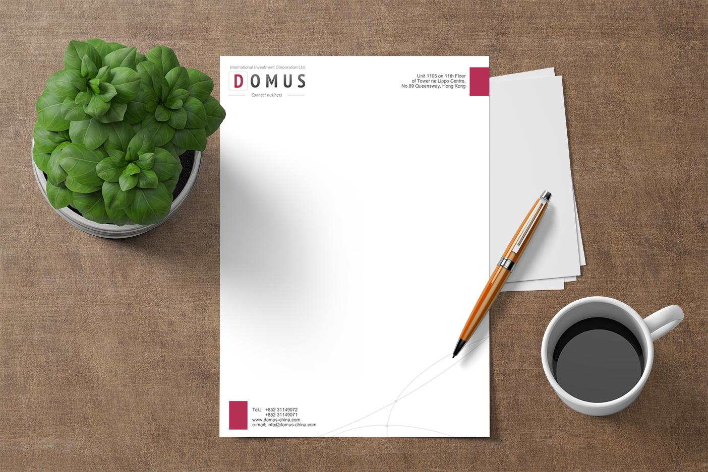 """Фирменный бланк для компании """"DOMUS"""""""