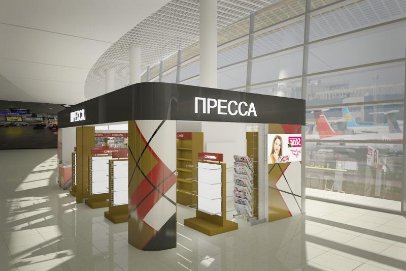 """Магазин """"ПРЕССА"""" Аэропорт """"Шереметьево"""" Терминал D"""