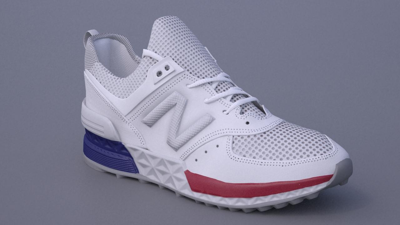 Low-poly обувь