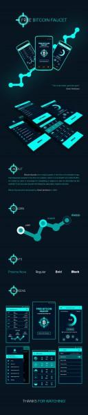 Дизайн лендинга по тематике Биткоин