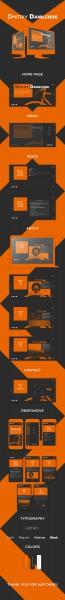Адаптивный дизайн персонального сайта программиста