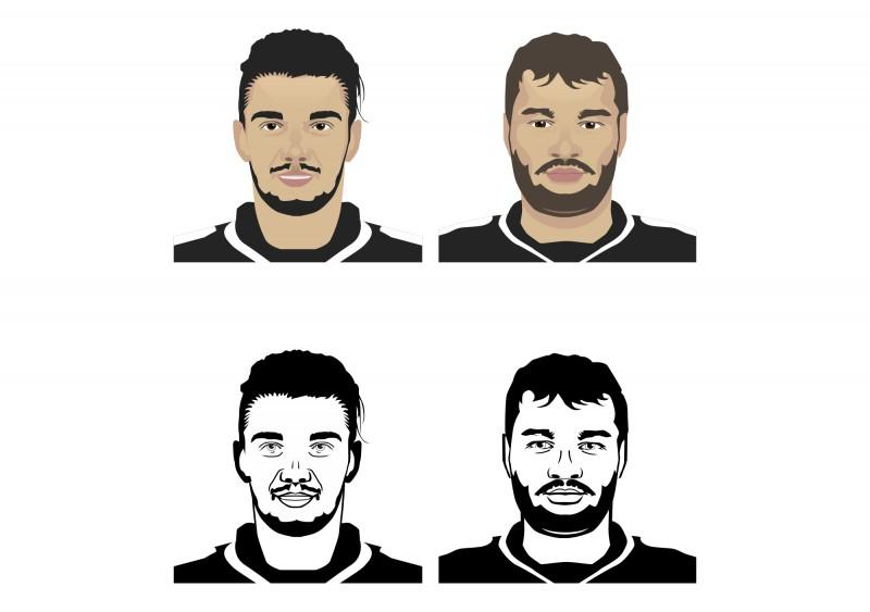 Футболисты в векторе
