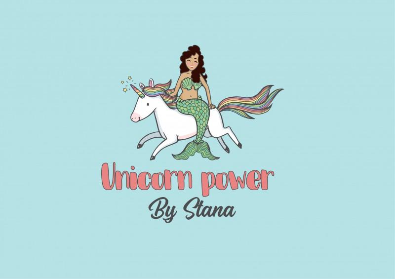 """Логотип для веганской кондитерской """"Unicorn power"""""""