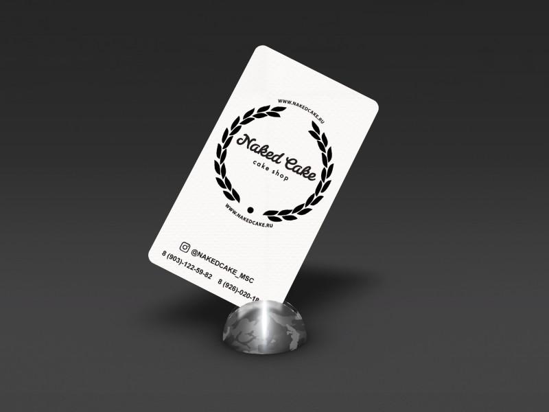 """Фирменная визитка для кондитерской """"Naked Cake"""""""