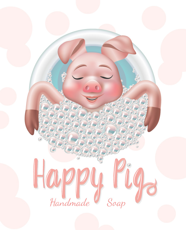 Happy Pig handmade soap