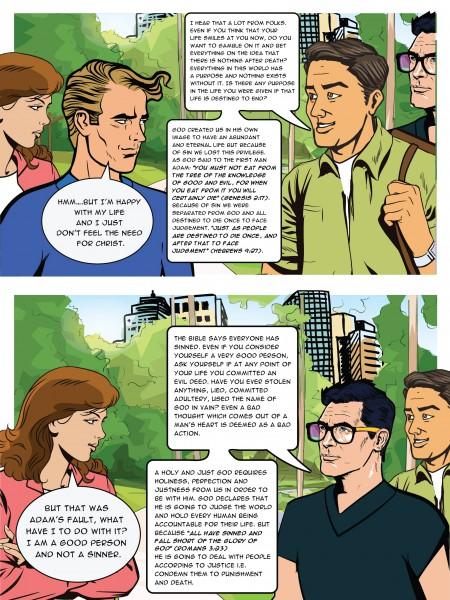 """Комикс для организации """"Британский христианский совет"""""""