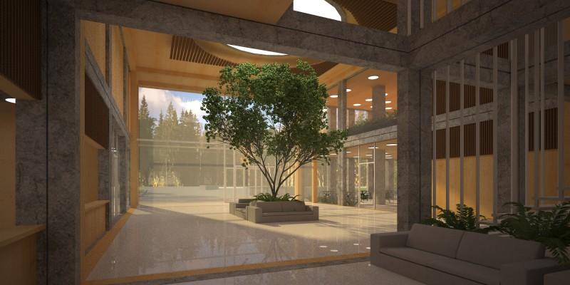 Интерьер здания зрелищного назначения - Мультиплекс