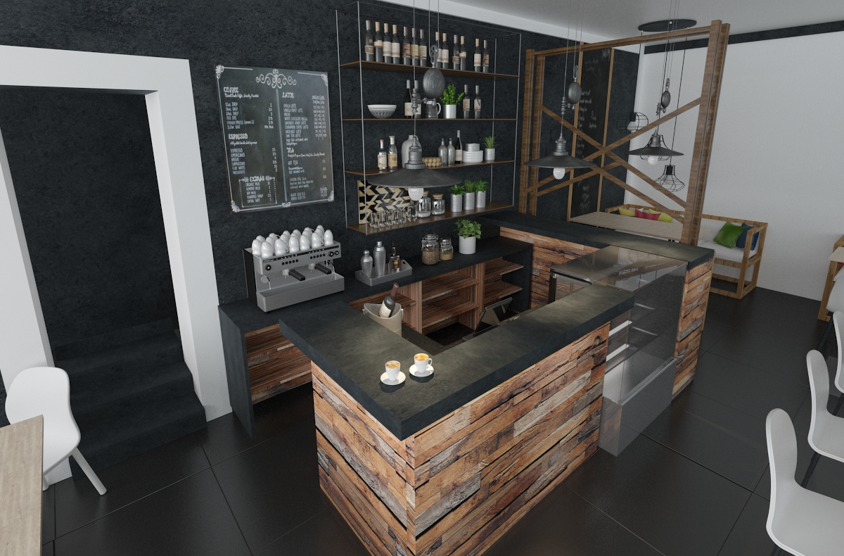 Интерьер кофейни