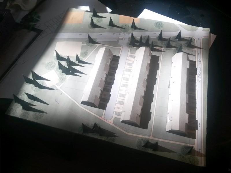 Макет жилого комплекса блокированных домов