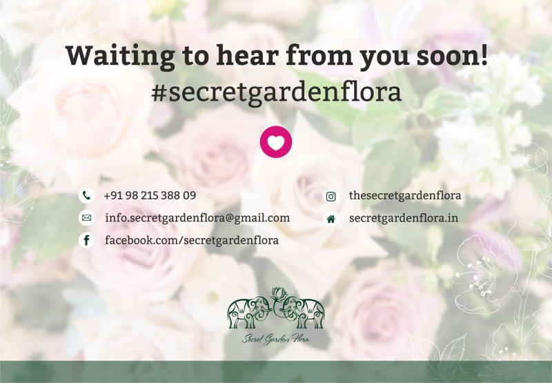 "Electronic catalog of flower bouquets for ""Secret garden"", India"