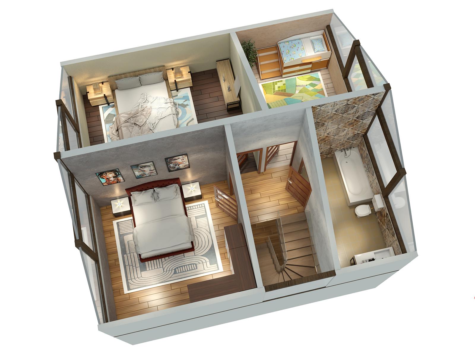 Планировка этажа дома