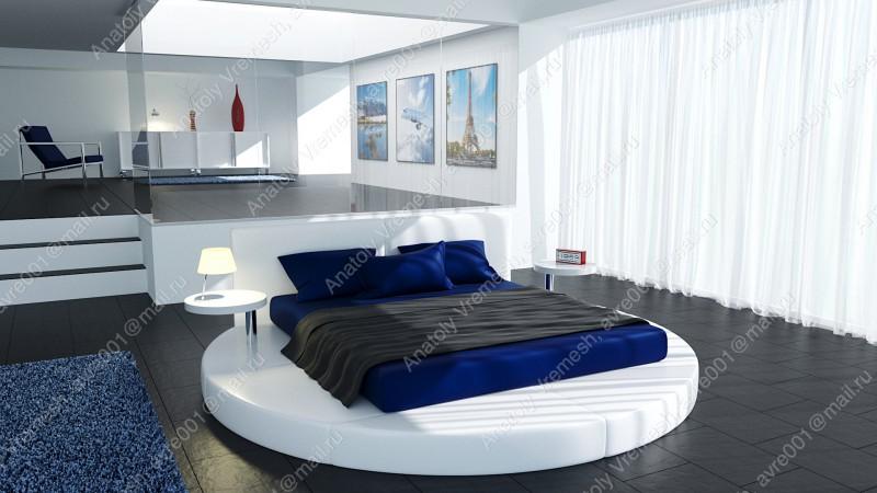 Интерьер-большая спальня